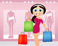 woman-go-shopping-illustration-42257436